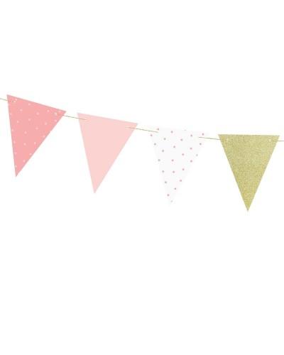 Girlanda 1st Birthday - Różowe Flagietki