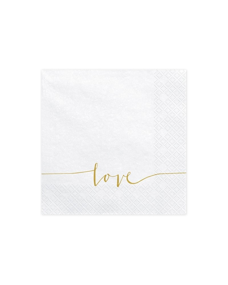 Serwetki Love 33x33 cm
