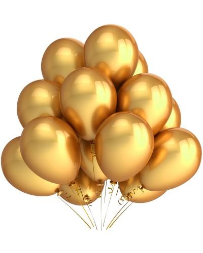 """Balony metaliczne 10"""" złote"""
