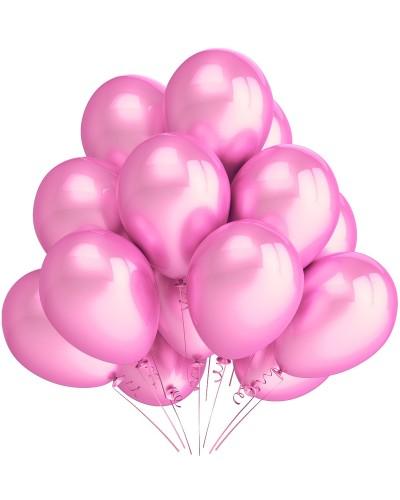 """Balony metaliczne 12"""" różowe"""