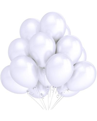 """Balony metaliczne 10"""" białe"""