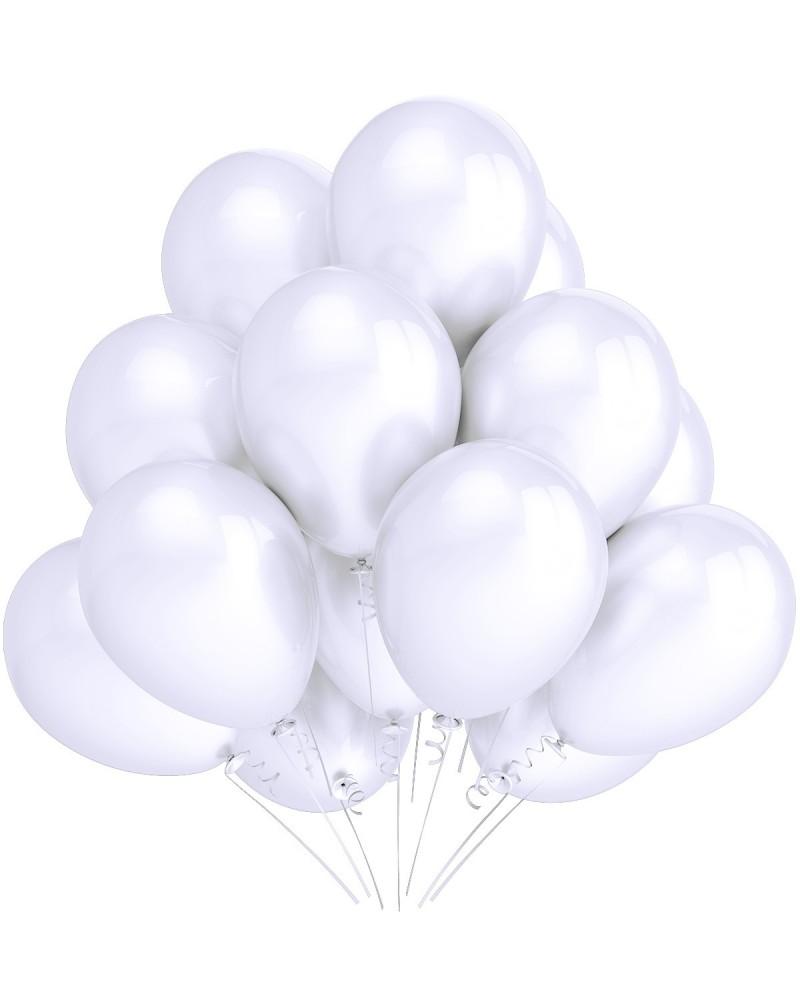 """Balony metaliczne 12"""" białe"""