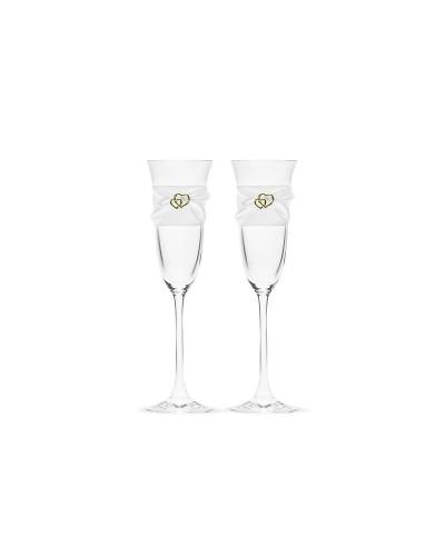 Kieliszki do szampana Serduszko