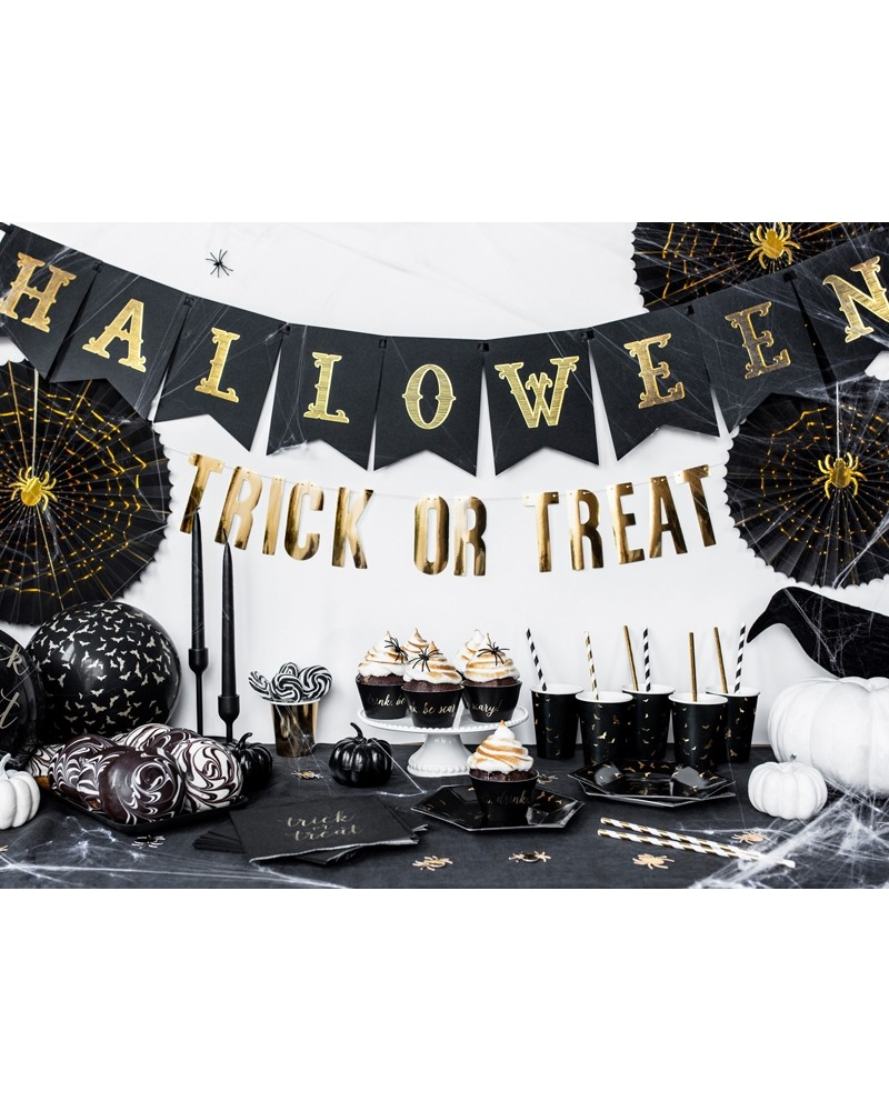 Baner na Halloween, Czarny, 20x175cm