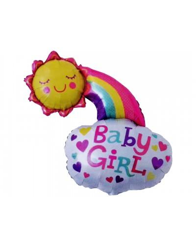 Balon foliowy Baby Girl, Chmurka