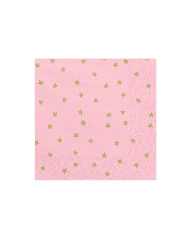 Serwetki Gwiazdki Różowe