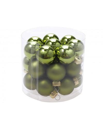 Bombki Szklane 2,5cm Butelkowa zieleń