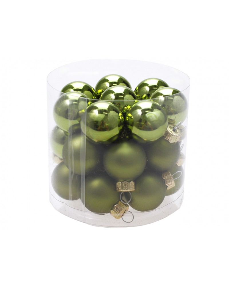 Bombki Szklane 2,5cm Zielone