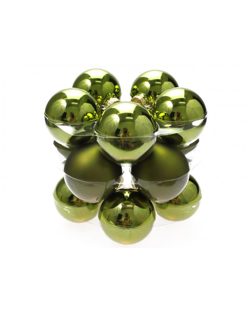 Bombki Szklane 6cm Butelkowa zieleń