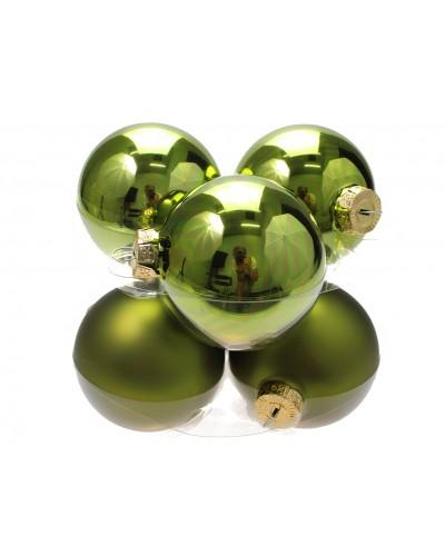 Bombki Szklane 8cm Butelkowa zieleń