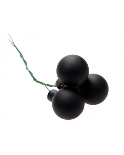Bombki Szklane 2cm Czarne Matowe