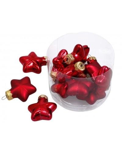 Bombki gwiazdy Czerwone