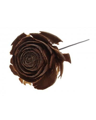 Róża na drucie, naturalna 12cm