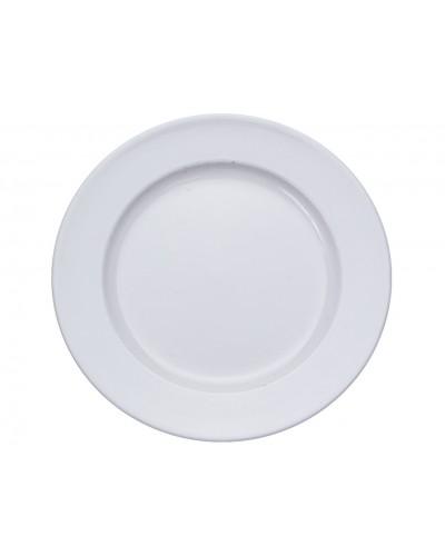 Plastikowy talerz, podkład baza biały 20cm