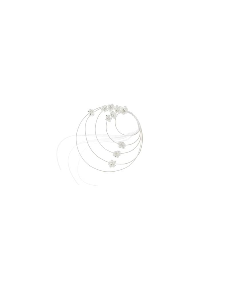 Rattanowe wianuszki w kolorze białym 11cm