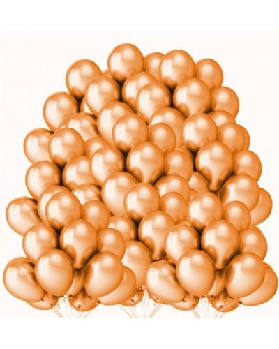 """Balony metaliczne 12"""" pomarańczowe 100 sztuk"""