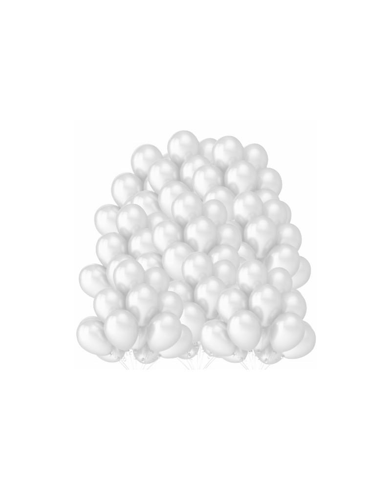"""Balony metaliczne 12"""" białe 100 sztuk"""