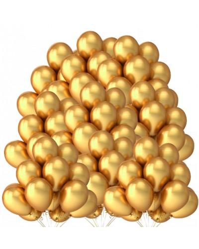 """Balony metaliczne 12"""" złote 100 sztuk"""