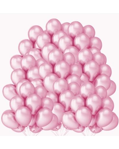 """Balony metaliczne 12"""" różowe 100 sztuk"""