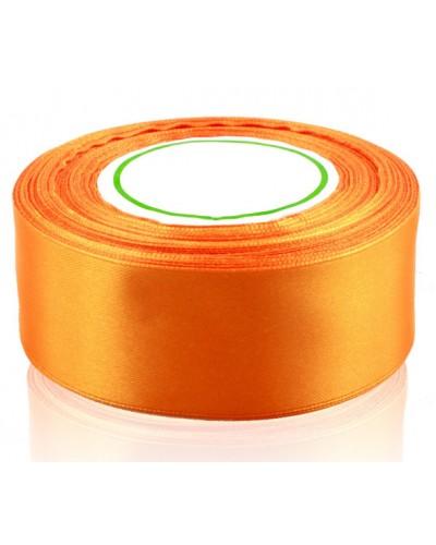 Wstążka satynowa 38mm pomarańczowa