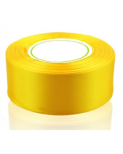 Wstążka satynowa 38mm żółta