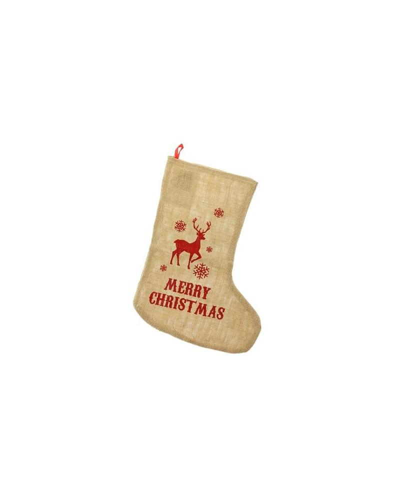 Skarpeta świąteczna Jutowa Merry Christmas