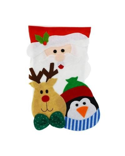 Skarpeta świąteczna Mikołaj Renifer Pingwin