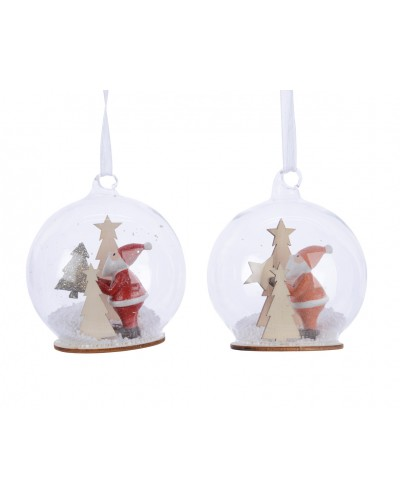 Bombka szklana ze świątecznym mikołajem