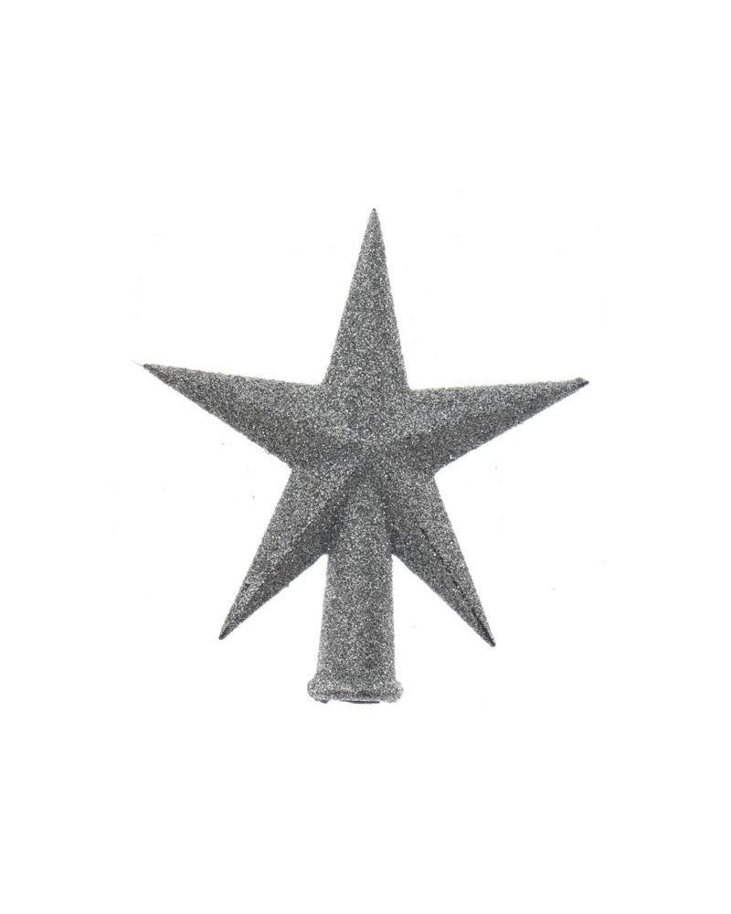 Czubek na choinkę Srebrna Gwiazda