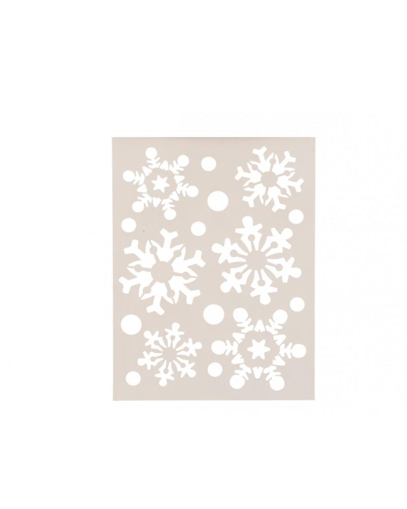 Szablon śnieżynki 21x30cm