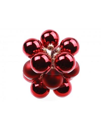 Bombki Szklane 6cm Czerwone