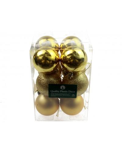 Bombki Plastikowe 6cm Złote