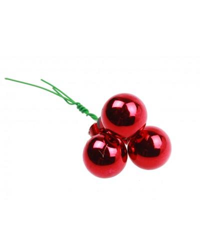 Bombki Szklane 2cm Czerwone Połysk