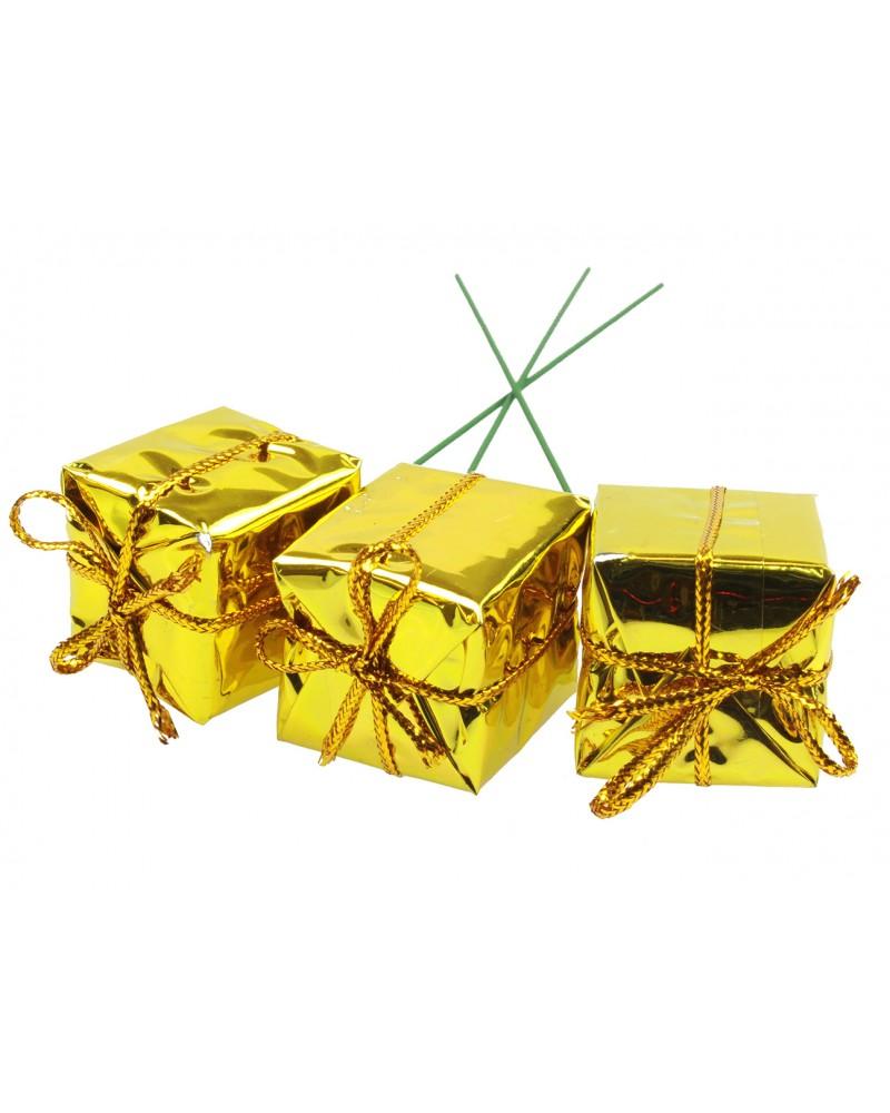 Prezenciki na choinkę Złote