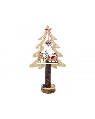 Drewniana Choinka świąteczna ozdoba