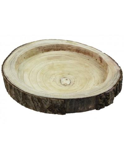 Drewniana taca, misa na święta, plaster drzewa 35-37cm