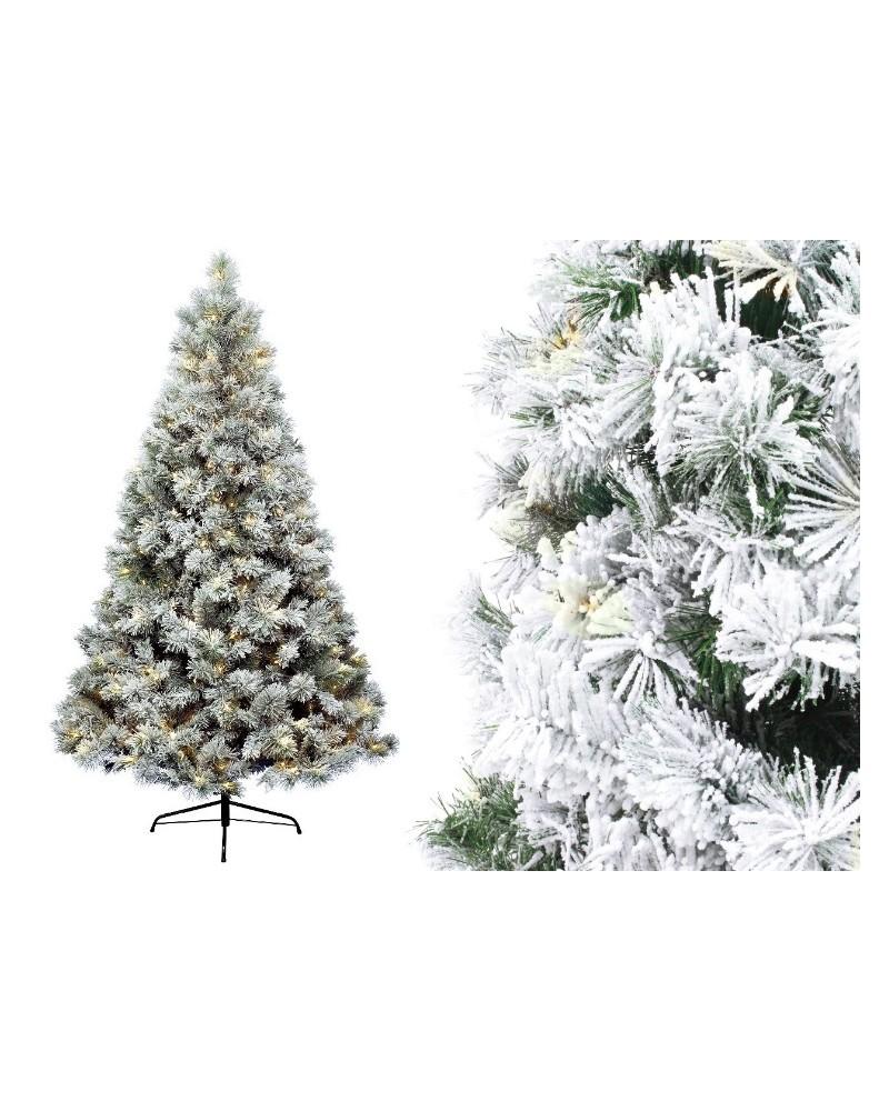 Sztuczna Choinka z lampkami LED Biała 180cm
