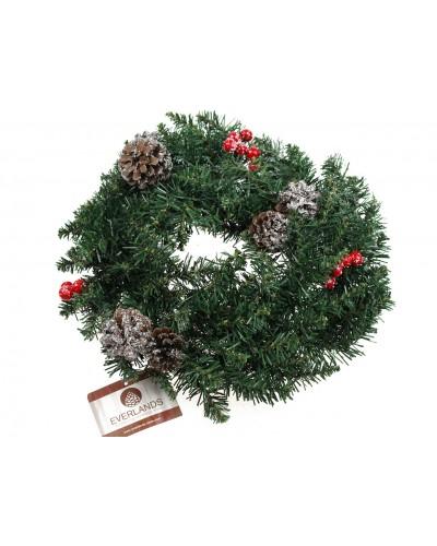 Wianek Jodła świąteczny z ozdobami 40cm