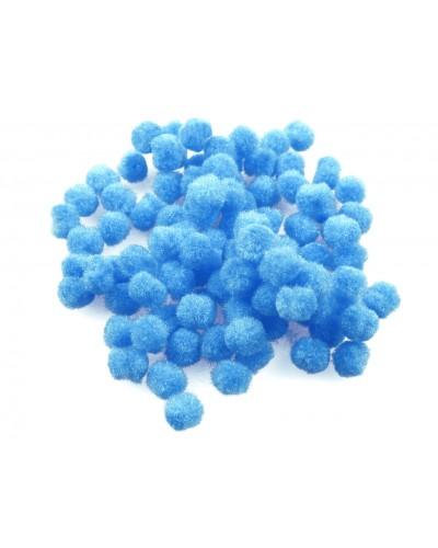 Pomponiki dekoracyjne 1cm niebieskie