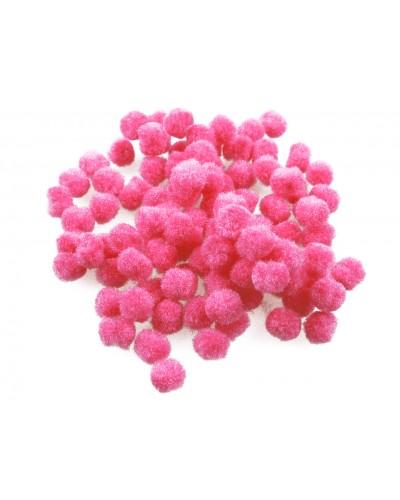 Pomponiki dekoracyjne 1cm różowe