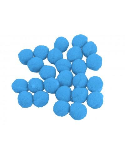 Pomponiki dekoracyjne 1,5cm niebieskie