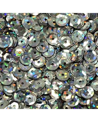 Cekiny łamane 6mm 15g laserowe srebrne