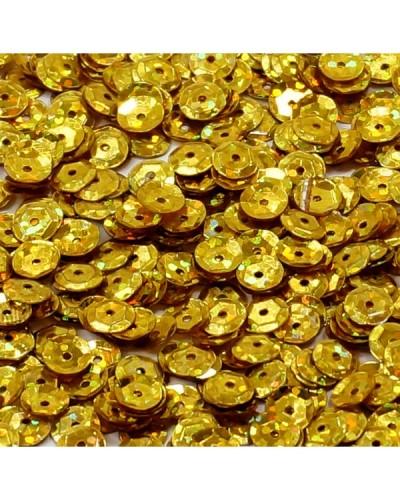 Cekiny łamane 6mm 15g laserowe złote