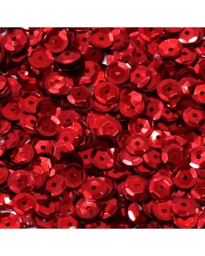 Cekiny łamane 6mm 15g metaliczne czerwone