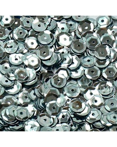 Cekiny łamane 6mm 15g metaliczne srebrne