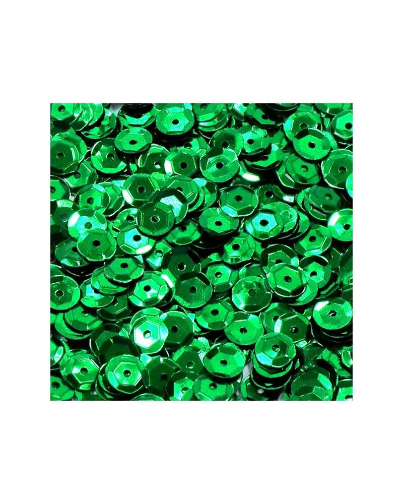 Cekiny łamane 6mm 15g metaliczne zielonym