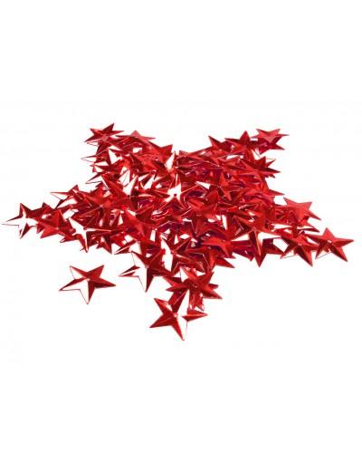 Cekiny gwiazdki 100szt 15mm metaliczne czerwone
