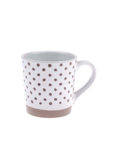 Ceramiczny kubek w groszki