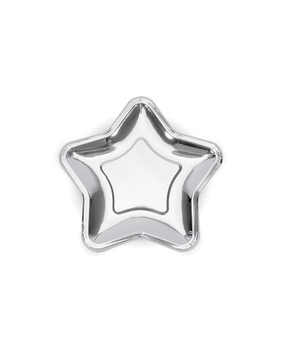 Talerzyki gwiazdka, srebrne