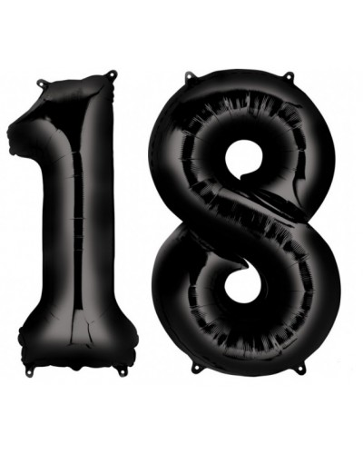 """Balony foliowe czarne na """"18"""" 100cm"""